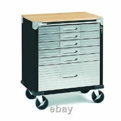UHD 6-Drawer Rolling Cart with Keys, Black 28W x 18D x 34.5H
