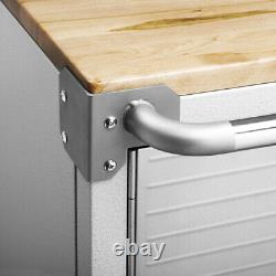 UHD Stainless Steel Rolling Cabinet with Lock, 28W x 20D x 34.5H