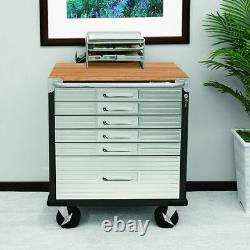 Ultrahd 6-drawer Rolling Lockable Storage Cabinet, 28 W X 18 D X 34.5 H