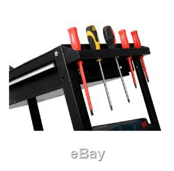 Utility Cart 1 Drawer Heavy Duty Side Handle Locking Swivel Ball Bearing Slides