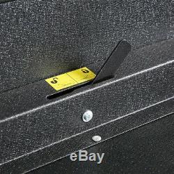 Utility Cart 32.75 in. 5 Drawer Tool Storage 1 Shelf Black Ball Bearing Slides