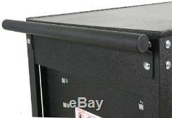 Utility Tool Cart 31 in. 5-Drawer Lockable Ball Bearing Slides Wheel Locks Black