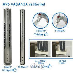 VA2576 485lb Super Heavy Duty Drawer Slides Ball Bearing Side Mount 1 Pair