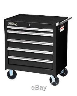 VRB-2705BK 27-Inch 5 Drawer Black Toolbox with Ball Bearing Drawer Slides