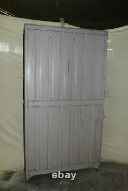 Vintage Tall Cabinet with Writing, Vintage Glass Cabinet Showcase