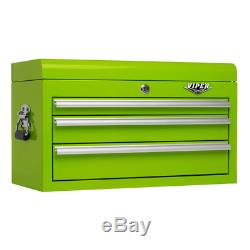 Viper Tool Storage 26-inch 3 Drawer 18G Steel Top Chest Lime NEW TOOLBOX