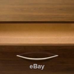 Wood 6-Drawer Dresser Storage With Metal Ball Bearing Slides Brown Walnut Finish