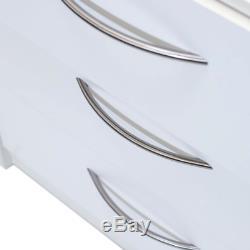 Wood 6-Drawer Dresser Storage With Metal Ball Bearing Slides Brown White Finish