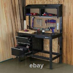 Workbench Cabinet Combo 2-in-1 Work Light 48 in. Rust Resistant Tool Storage Box