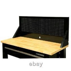 Workbench Pegboard Tool Storage Heavy Duty Steel Solid Wood Top 1675lbs Capacity